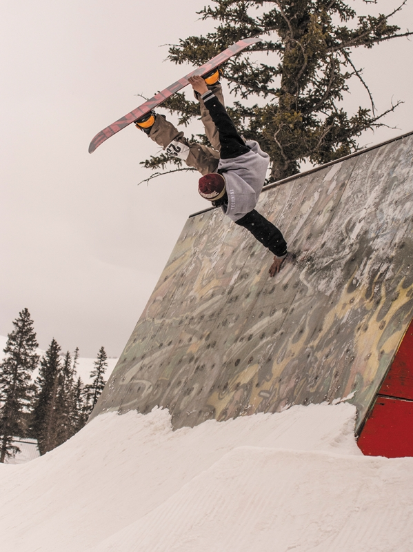 Jaromie Nolan firmly planted his place at the top of the podium with moves like this steezy handplant on the wallride.