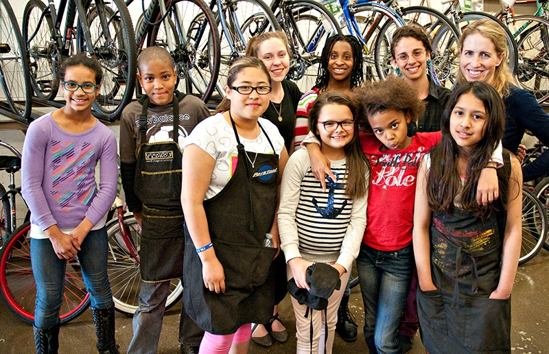 Greasy Wrenching for Kids at the SLC Bicycle Collective's Earn-A-Bike Program