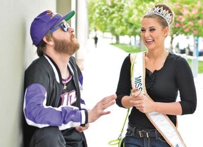 Mike Brown with Miss Utah Rylee Coggins