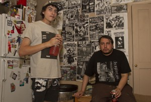 (L–R) City of Dis founders Conrad and Sam are certainly no phonies when it comes to Salt Lake City's powerviolence, grindcore, D-beat and punk community.