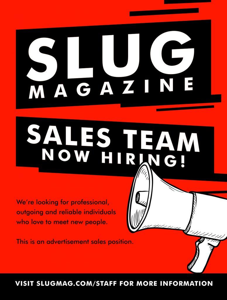 Now Hiring: Sales Representative