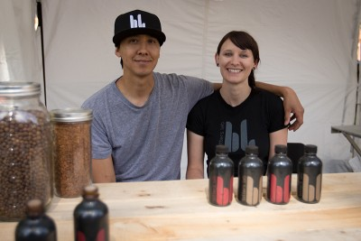 Bitters Lan – (L–R) Andrea Latimer and Jesse Coss.