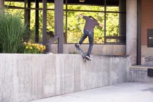Caleb Orton, switch frontside boardslide pop out