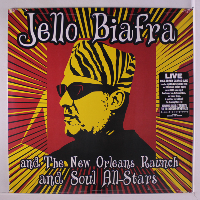jello biafra and the new orleans raunch and soul all-stars walking on jindals splinters album cover