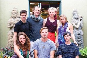 (Top, L–R) Cody Layton, Trevor Williams, Ether Stern, Jes Stobaugh, (Bottom, L–R) Camille Overmoe, Chad Wing and Bobby Ward comprise some of the New World Presents team.