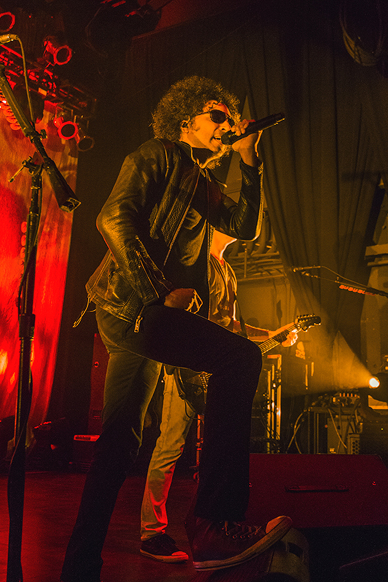 William DuVall of Alice in Chains was all over the stage Monday night getting the crowd fired up for each and every song. Photo: Talyn Sherer