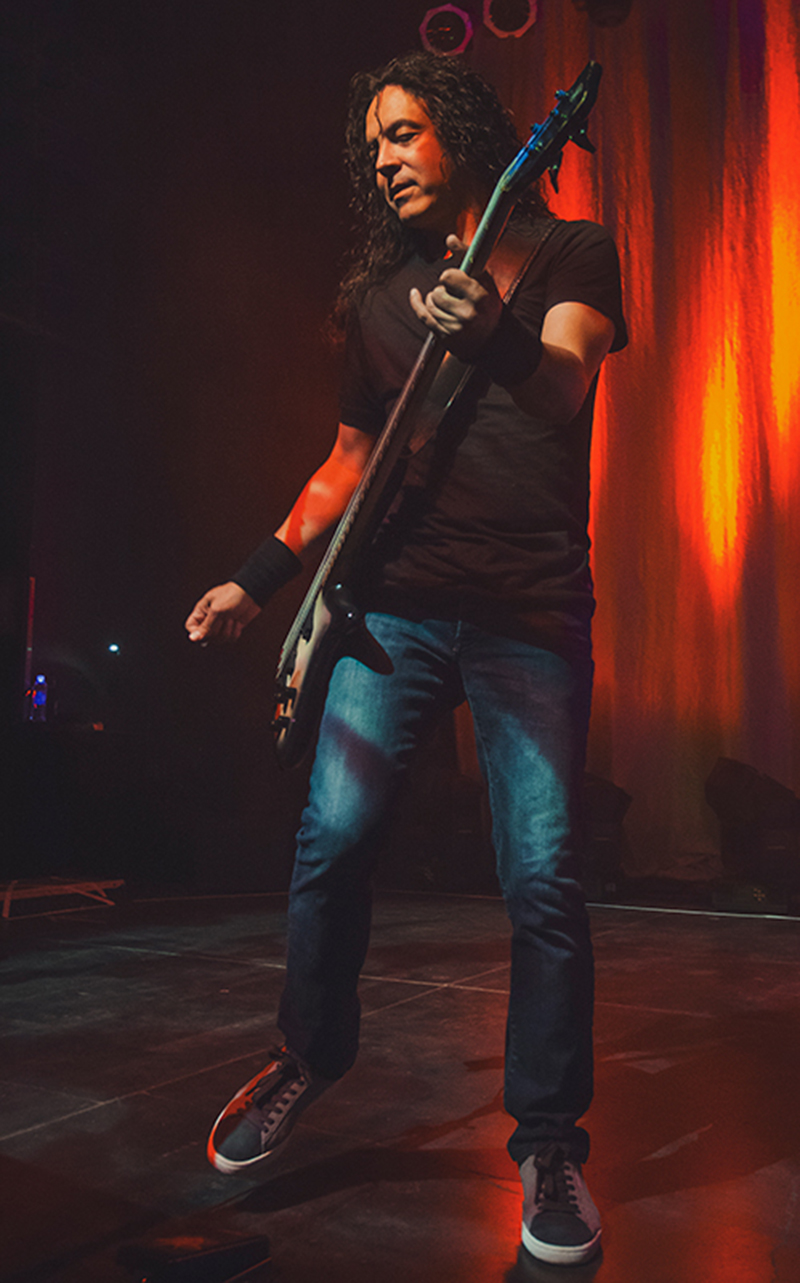 Alice in Chains bassist Mike Inez has been with the band since 1993 and proves he can still go against the best in the industry to date. Photo: Talyn Sherer