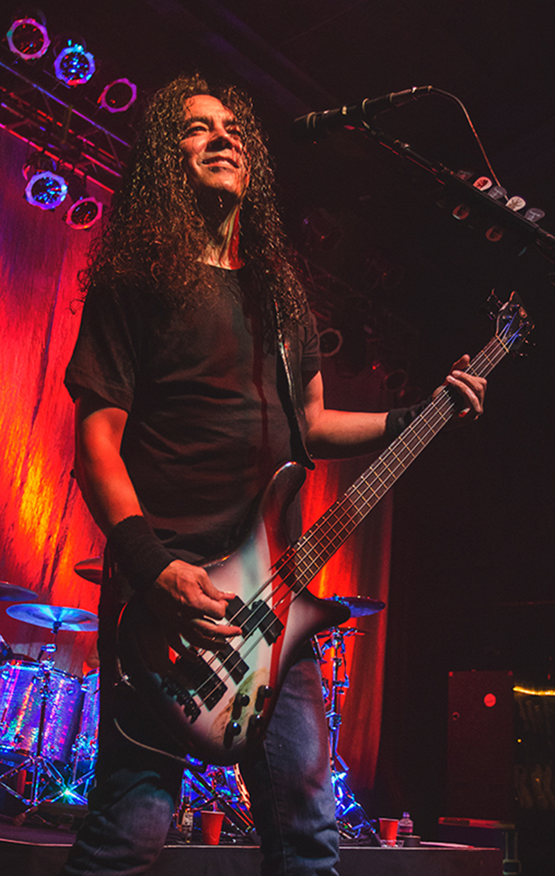 "In a triumphant return to the spotlight, bassist Mike Inez performs an incredible rendition of Alice in Chains new hit song ""Check My Brain."" Photo: Talyn Sherer"