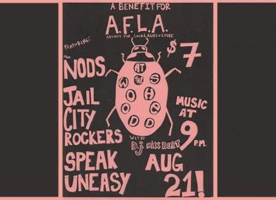 AFLA Benefit Concert Poster