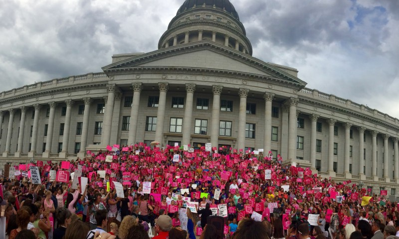 Planned Parenthood Rally at the Utah State Capitol. Photo: