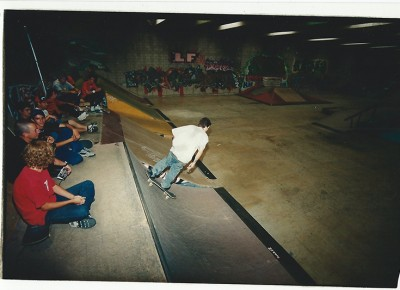 Cruising around at Connection Park, 2000.
