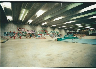 Inside the Connection Skatepark.