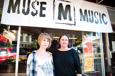 (L–R) Muse Music musos Darcie Roy and Debbie Phillips are cultivating Provo's alternative music scene at their new location on Center Street.