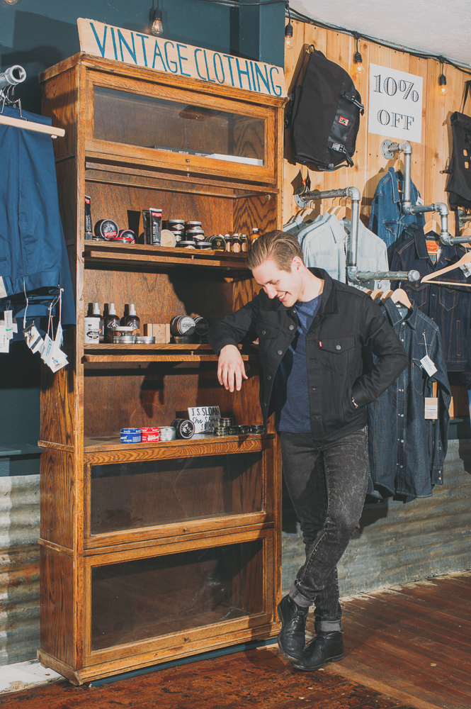 """""""Brighton, England is one of the weirdest places. They have all of these vintage places and it is right on the beach. There was this one shop there—it had a good aesthetic to it,"""" says Spencer Daley. """"I wanted to be there. Even if there wasn't something I wanted to buy. It felt good to be in that space. That is what our shop is modeled after. I don't even remember the name."""""""