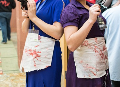 A couple of creepy Little Sisters from Bioshock. Copyright Megan Kennedy // abuseofreason.com