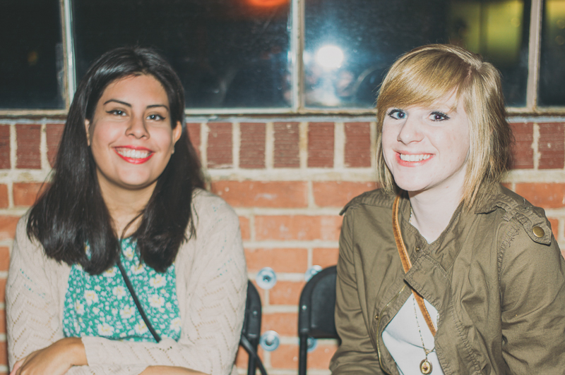 (L-R) Ceci Salas and Rachel Cecil pose by the beautiful exposed brick in Publik's event space. Photo: @clancycoop