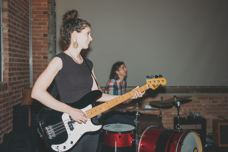 Felicia Baca of Color Animal bringing the bass during their set. Photo: @clancycoop
