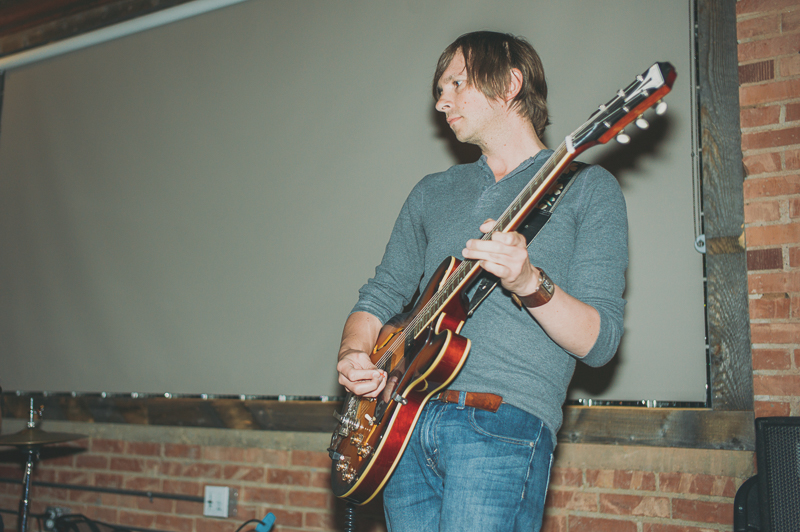 Seth Howe of Color Animal plays guitar during their set. Photo: @clancycoop