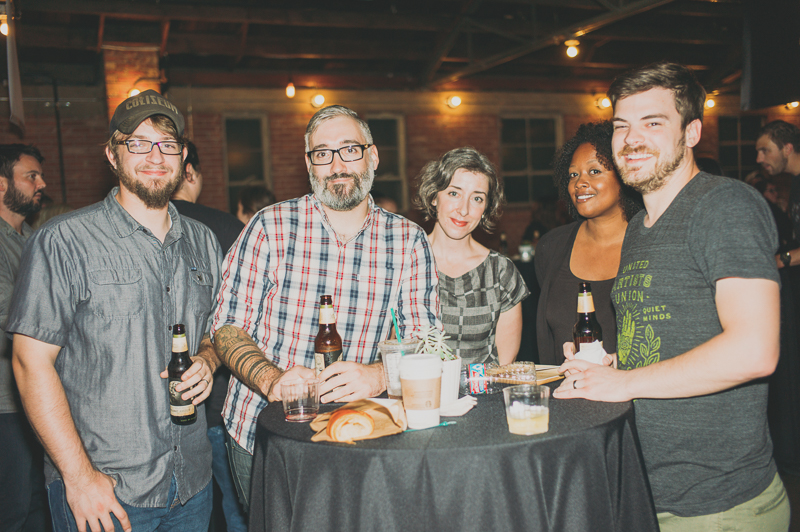 (L-R) Nick Endle, Carl DeClaire, Lauren Eimers/Wangrud, Latoya Allen and Nate Hanson of Big Cartel celebrating 10 years of the online marketplace's existence. Photo: @clancycoop