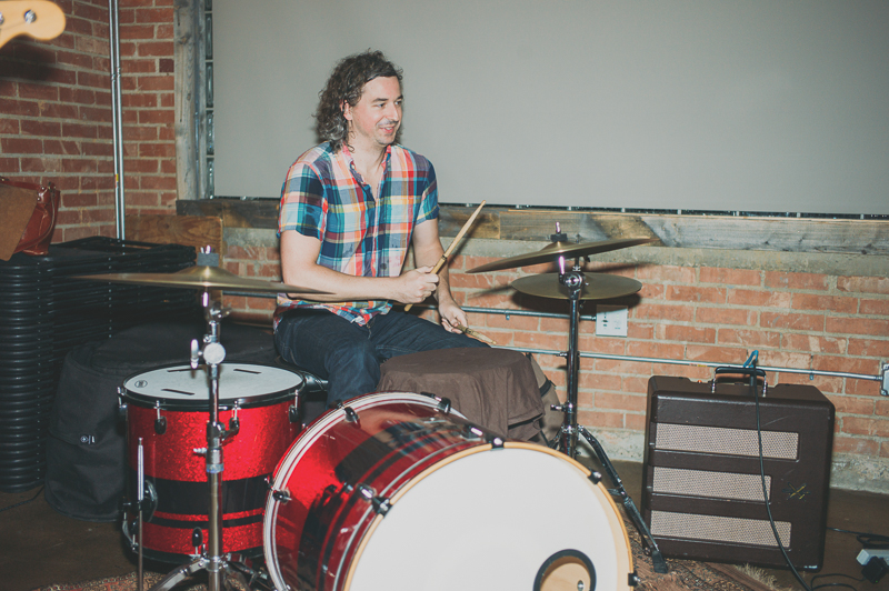 Tyler Ford drumming for Color Animal. Photo: @clancycoop