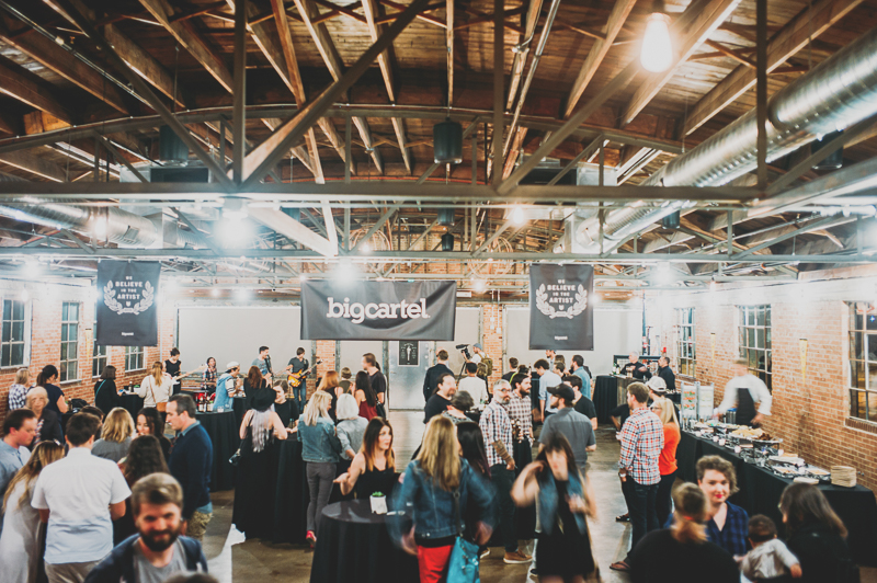 Many people made it out to Big Cartel's 10th anniversary party. Photo: @clancycoop