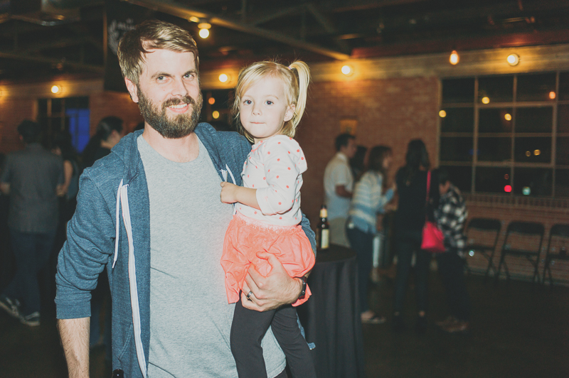 Matt Wigham of Big Cartel and his daughter Arly post after she requested a photo be taken. Photo: @clancycoop