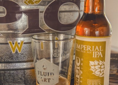 I am falling more in love with Epic Brewery's Imperial IPA as my buzz starts to set in. Photo: Talyn Sherer