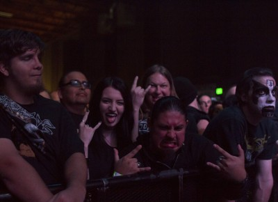 Fans wait for King Diamond to take the stage. Photo by Madi Smith.