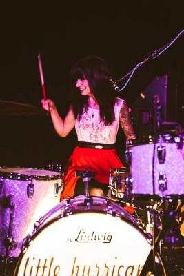 CC, drummer for Little Hurricane. Photo: @LMSORENSON