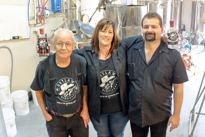 (L–R) Bob, Denise and Kirk Sedgwick of Outlaw Distillery tout a renegade spirit contrary to overbearing Utah liquor laws.