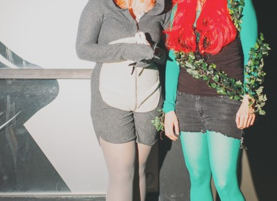 (L–R) Dani as Totoro and Etta as Poison Ivy. Photo: Tyson Call @clancycoop
