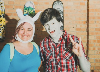 (L–R) Abby Hansen as Fionna and Liam Cochran as Marshall Lee. Photo: Tyson Call @clancycoop