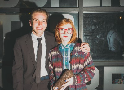 (L–R) Spencer Daley as Twin Peaks' Agent Dale Cooper and Rachel Urban as Log Lady. Photo: Tyson Call @clancycoop