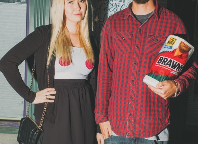 (L–R) Sarah Gibson looking totally fetch as Regina George and Ryan Ball as the Brawny Man. Photo: Tyson Call @clancycoop