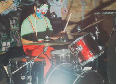 Colbert Tung playing drums as Rage Against the Machine (Wild Moth). Photo: Tyson Call @clancycoop