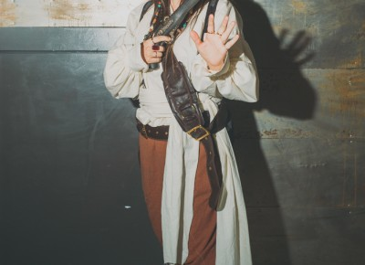 Olivia Schultz as Captain Jack Sparrow, savvy? Photo: Tyson Call @clancycoop