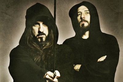 (L–R) Brothers Sakis and Themis Tolis form the core of Rotting Christ, who bring their extreme metal majesty to The Complex on Nov. 17.