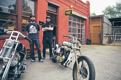 (L–R) Brook Lund, Andy Carter and Danny Payne (not pictured) aim to rewire Salt Lake's motorcycle culture with custom gear, parts and knowledge at Short Fuse.