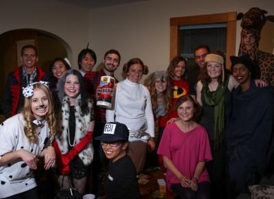 These wholesome undergrads kept it safe this Halloween. Photo: John Barkiple