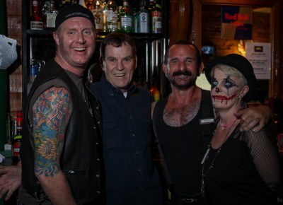 The bar staff at the The Sun Trapp should have won the costume contest. Photo: John Barkiple