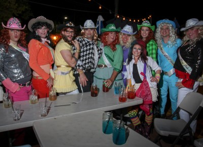 More than a dozen rodeo queens dominated The Sun Trapp on Halloween. Photo: John Barkiple