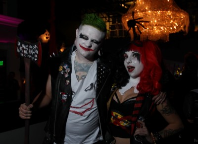 These two are dressed in cosplay-worthy Joker and Harley Quinn outfits at Sketch Cabaret's Halloween party at Metro Bar. Photo: John Barkiple