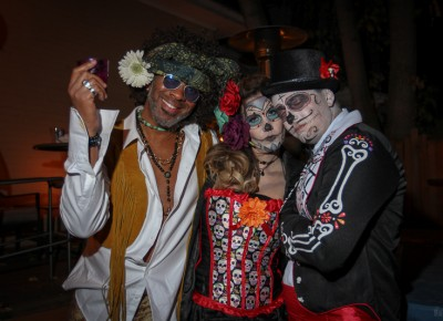 In the last few years, Dio de los Muertos sugar skull costumes have gone from trend to tradition. Photo: John Barkiple