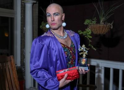 """Here's the winner of the """"best cross dressing"""" award. Photo: John Barkiple"""