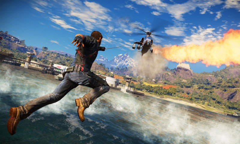 Just Cause 3: Grappling Hook meets Helicopter