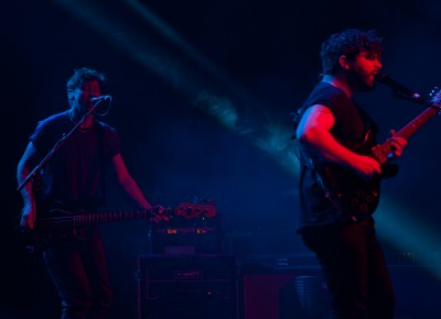 Yannis Philippakis and Walter Gervers of Foals. Photo: Andy Fitzgerrell