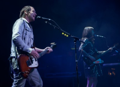 Brian Aubert and Nikki Monninger of Silversun Pickups. Photo: Andy Fitzgerrell