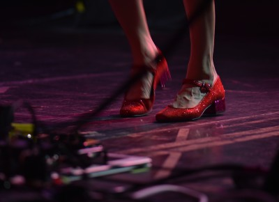 Nikki Monninger's ruby-red slippers. Photo: Andy Fitzgerrell
