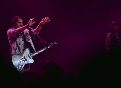 Brian Aubert of Silversun Pickups casts a spell on the crowd. Photo: Andy Fitzgerrell