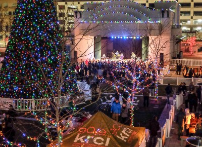 KRCL's 2015 Polar Jubilee filled the Gallivan Center with hundreds of cheerful listeners, donors and volunteers. Photo: John Barkiple
